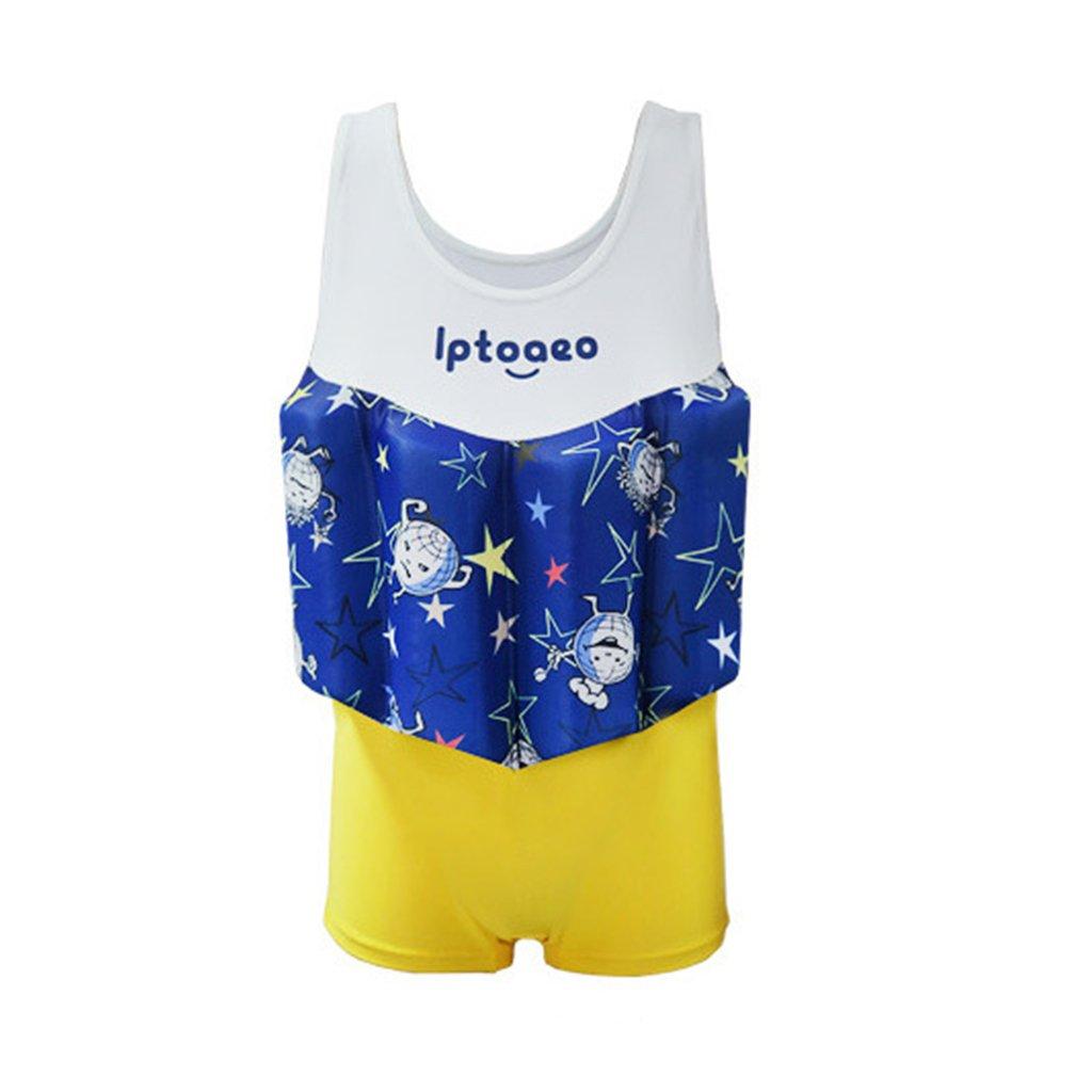 Costume da Bagno Intero con Galleggianti per Bambino Tuta Galleggiante per Ragazzi Nuoto Abbigliamento Senza Maniche