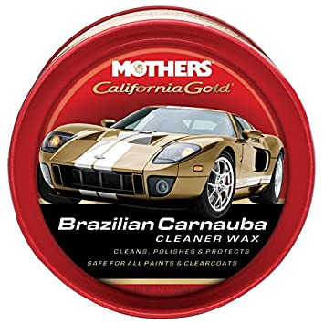 Mothers 05500 Brazilian carnauba Cleaner Wax paste, California Gold