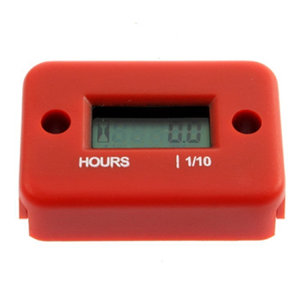 TOOGOO(R) Hour Meter For Boat Yama Ski Dirt Quad Dirt bike bicycle Bike Marine ATV Motorcycle Snowmobile Small Stroke Gas Engine Generator digital counter Red