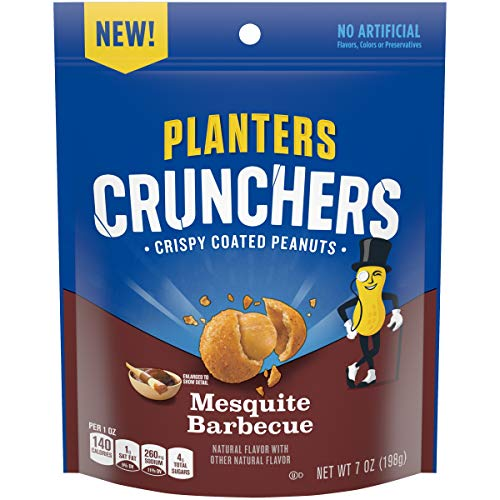 - Planters Crunchers Snack Nuts Mesquite Barbecue 7 oz Bag