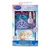 Disney Frozen Beauty Set with Hair Comb, Bows, Nail Polish, Lip Gloss and Beauty Bag, 6 Pieces