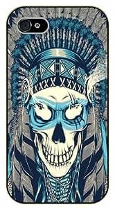 iPhone 5C Indian skull - black plastic case / hipster, tribal
