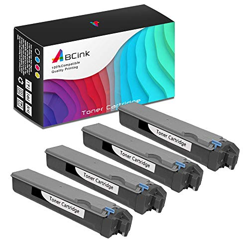 ABCink Compatible Toner Cartridge Replacements for Kyocera TK-512K,for use in Kyocera FS-C5020N, FS-C5025N, FS-C5030N,8000 Yields(4 Pack,Black)
