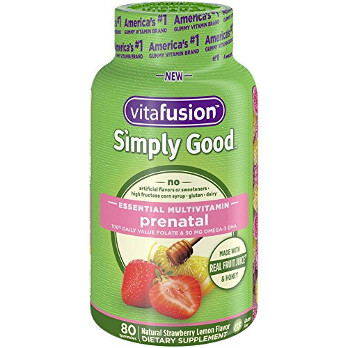 - Vitafusion Simply Good Prenatal Essential Multivitamin, 80 Count