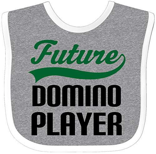 - Inktastic - Future Domino Player Baby Bib Heather/White