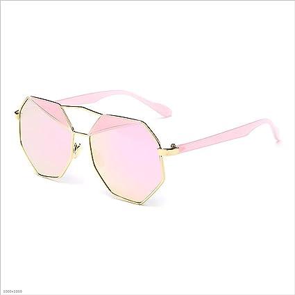 Sumferkyh Gafas de Sol poligonales para Mujer Gafas de Sol con Bordes protegidas UV Gafas de