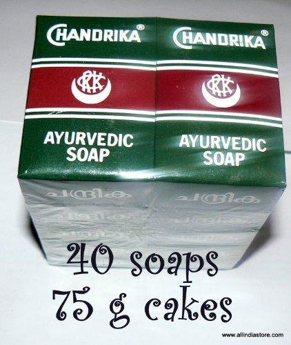 40 Chandrika Ayurvedic Soap Bars - Original Package - low shipping by Chandrika