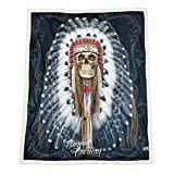 DGA Day of Dead High Defenition Super Soft Plush Micro Sherpa Blanket 50x60 Inches - Original American
