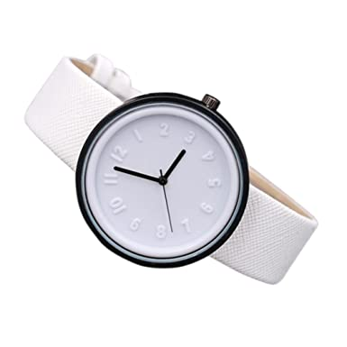 Amazon.com: Unisex simple de moda número de relojes de ...