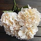 "Mustbe Artificial Hydrangea Flower 5 Big Heads Bounquet (Diameter 7"" each head) 7 Colors Avaliable"