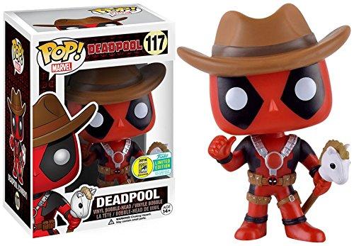 Funko Pop! Marvel Cowboy Deadpool con unicornio