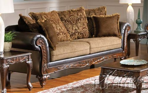 ACME 50340 Fairfax Sofa with Chocolate/Splurge Finish