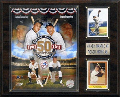 - MLB New York Yankees Mickey Mantle/Roger Maris Player Plaque