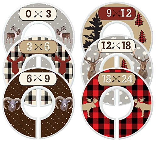 Mumsy Goose Baby Nursery Closet Dividers, Closet Organizers, Baby Boy Woodland Clothes Sizers by Mumsy Goose
