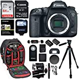 Canon EOS 7D Mark II Digital SLR Camera Body, Two 32GB Cards, Wi-Fi Adapter, Ritz Gear Camera Backpack, Polaroid Flash, and Accessory Bundle