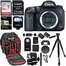 Canon EOS 7D Mark II Digital SLR Camera Body, Sandisk 32GB Card, Wi-Fi Adapter, Ritz Gear Camera Backpack, Polaroid Flash, and Accessory Bundle