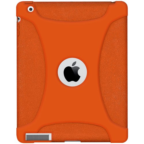 Amzer Silicone Skin Jelly Case - Orange For The new iPad - iPad - Orange - Silicone - AMZ93517 by Generic