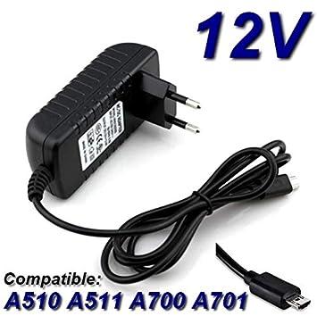 Adaptador de corriente cargador de 12 V para tablet Acer ...