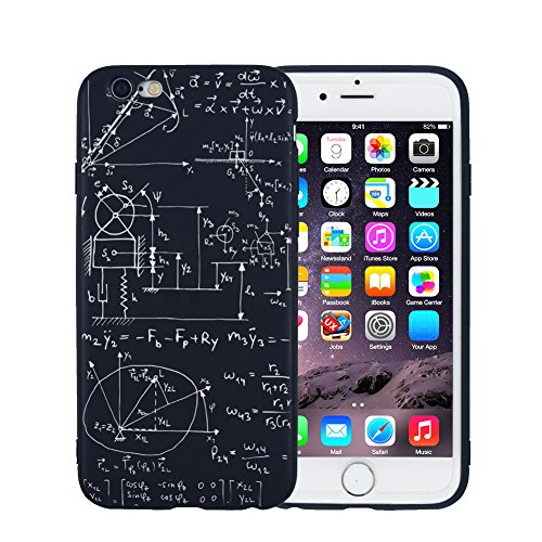 Cool iPhone 6 Plus Case, FACEVER Chemistry Math Formula Slim-Fit Anti-Finger Print Protective Cover For iPhone 6 6S Plus -Math Formula