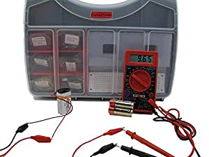 Make: Electronics Component Pack 1 Deluxe - New 2nd Edition Kit Follows the Latest Make: Electronics (2nd ed) Educational Book by Charles Platt