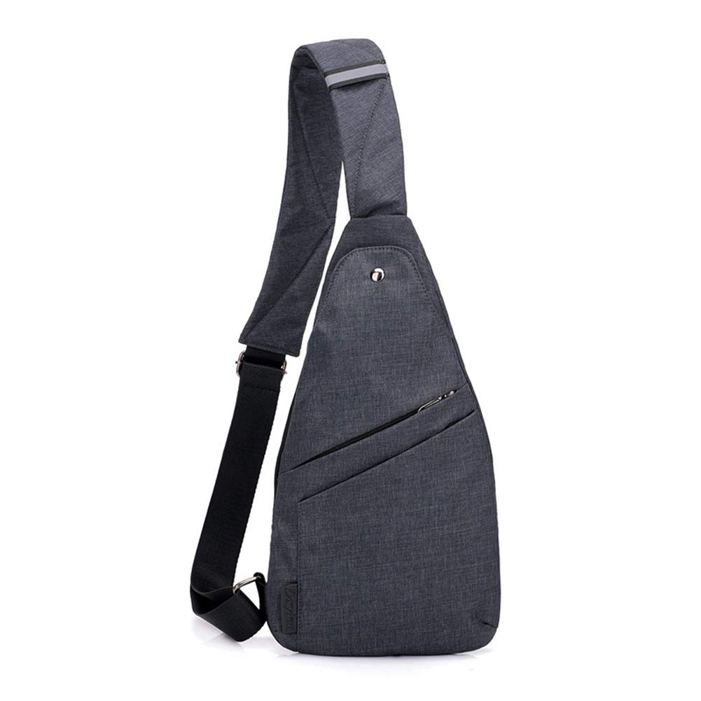 Black Men Chest Bag Simple Outdoor Sports Bag Leisure One Shoulder Crossbody Bag Breathable Personality Small Backpack Package