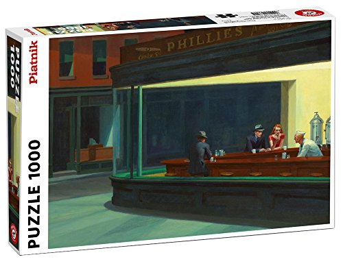 Nighthawks 1000 Piece Edward Hopper Jigsaw Puzzle By Piatnik