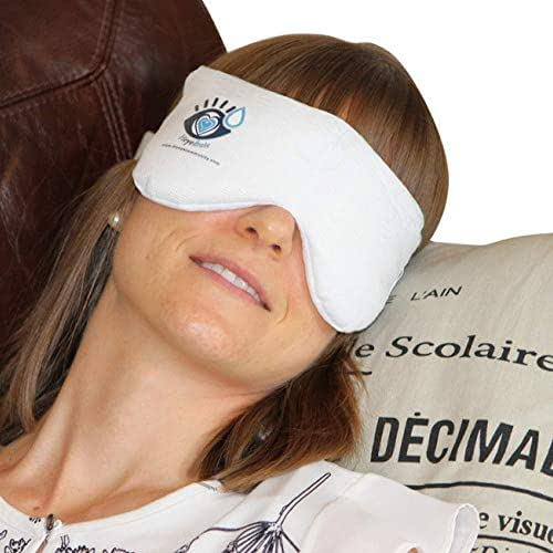 Heated Eye Mask for Dry Eyes, Styes, and Blepharitis - Soothing Warm Compress for Relief of Irritated Eyes, Dryness, Crusty Eyelids, Eyelid Bumps, Allergies, and More