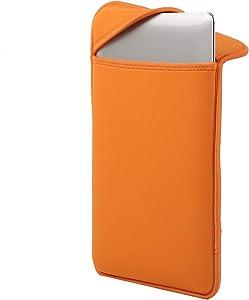 """Neoprene Laptop Notebook Tablet Sleeves Bag Case Cover Shockproof Waterproof 13-inch 11-inch (13"""" Laptop Sleeve, Orange)"""
