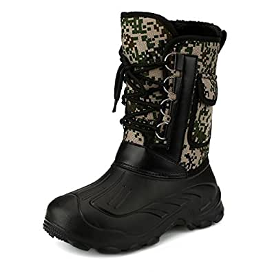 Men 39 s waterproof rain boot mid calf winter for Waterproof fishing boots