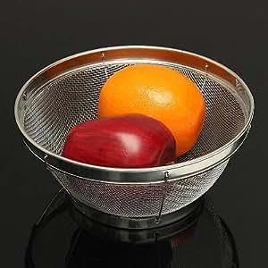 Stainless Steel Fine Mesh Colander Strainer Sifter Sieve Kitchen Food Vegetable