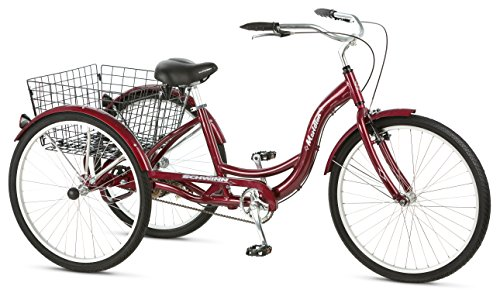 038675400207 - Schwinn Meridian Adult 26-Inch 3-Wheel Bike (Black Cherry) carousel main 5