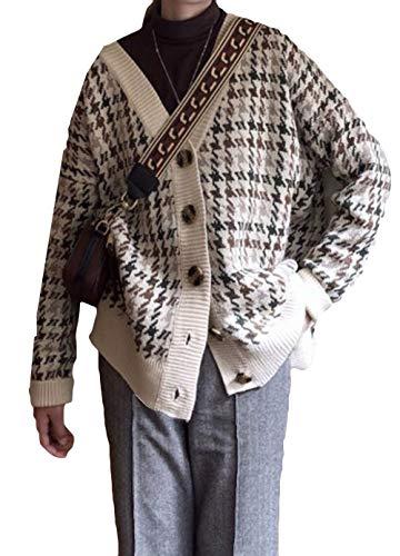 Alppv レディース カーディガン カットソー レディース ニット セーター 長袖 上着 レディース 秋 シンプル ゆったり カジュアル ショート丈 カットソー カーディガン