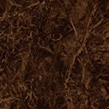 Self-Adhesive Marble Contact Paper Shelf Liner [EC704-1 Brown Black : 2.00 Feet X 6.56 Feet]