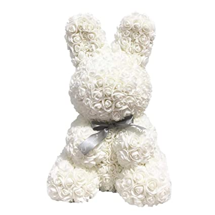 Home & Garden Pe Rose Rabbit Toy Gift Love Lovely Decorations Birthday Simulated Artificial Rose Romantic Girlfriend Rabbit Dolls Wedding