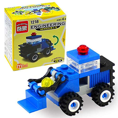 Kizaen Baby Kids Toddler Crane Forklift Bulldozer Excavator Dumper Engineering Building Block Toys by Kizaen