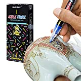 Marte Vanci 0.7mm Fine Line Paint Pens for Eater Egg Painting, Rock, Ceramic, Porcelain, Glass, Wood, Fabric, Canvas. Best for DIY Mug, Kids Toy Painting, 15 Permanent Acrylic Paint Markers