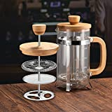French Press Coffee Maker with 4 Filter