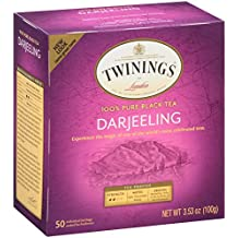 Twinings Darjeeling Tea, Tea Bags, 50 Count Boxes (Pack of 6)