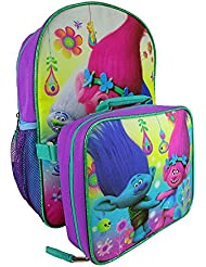 Dreamworks Trolls Troll Life 16 Large Backpack with Detachable Lunch Bag