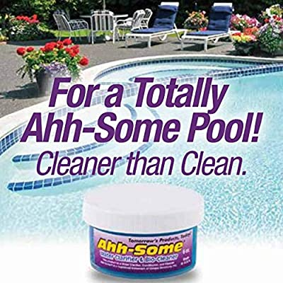 Ahh-Some- Swimming Pool Clarifier Gel | Clears Cloudy & Hazy Water Helps Remove Pipe Build Up of Bio-Contaminants in Plumbing | Environmentally Friendly 6oz. : Swimming Pool Clarifiers : Garden & Outdoor