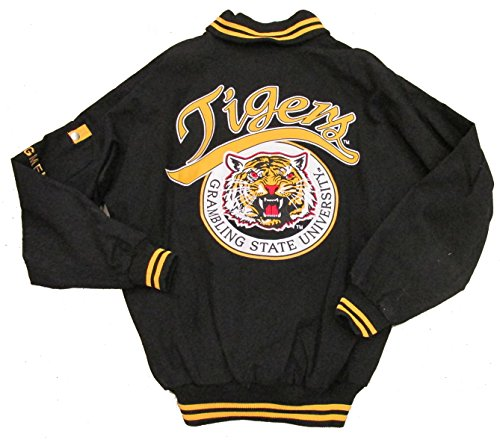 State University Tigers (Grambling State University Tigers Varsity Trimmed HBCU lack College Mens Big & Tall Jacket (2x large))