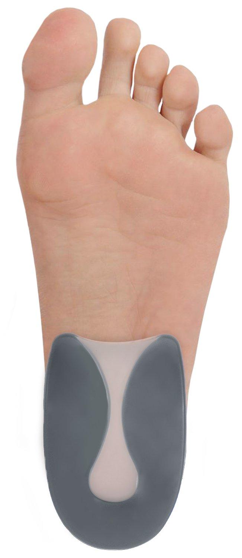 Dr. Frederick's Original Advanced Heel Protectors - 2 Pieces - U-Shaped Heel Cushion Inserts for Plantar Fasciitis - Supportive Heel Pads - Heel Spur Relief - Heel Pain - Large