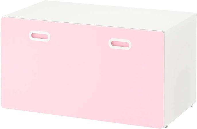 Ik Ikea Stuva Fritids Banc Avec Coffre A Jouets Blanc Rose Pale 90 X 50 X 50 Cm Amazon Fr Cuisine Maison