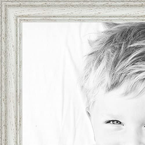 ArtToFrames 28x10 //  28  x  10 Picture Frame White Wash on Ash . 1.25 wide 2WOM59504 Art to Frames 2WOM0151-59504-475-28x10