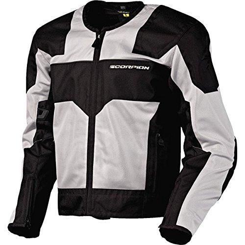 Scorpion Drafter Mesh (Scorpion Drafter Men's Mesh Vented Street Motorcycle Jacket - Silver /)