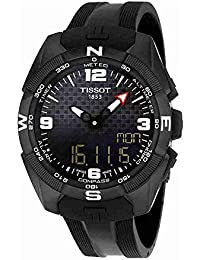 Men's 'T-Touch Expert' Swiss Quartz Titanium and Silicone Dress Watch, Color:Black (Model: T0914204705701)