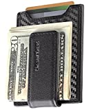 Secure, Slim Carbon Fiber Money Clip Wallet, RFID EDC Card Holder