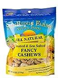 SunRidge Farms Fancy Whole Oil Roasted & Salted NonGMO Verified Cashews, 6 Ounce Bag (Pack of 12)
