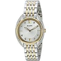 Bulova Diamonds Collection Women's Quartz Two-Tone Bracelet 28mm Watch