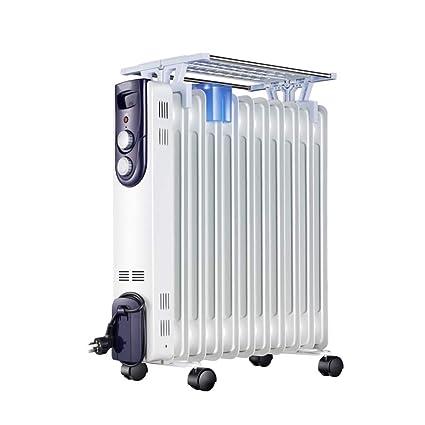 Jade Radiador Relleno De Aceite 2000 W 11 Aleta - Calentador Eléctrico Portátil con Tendedero (